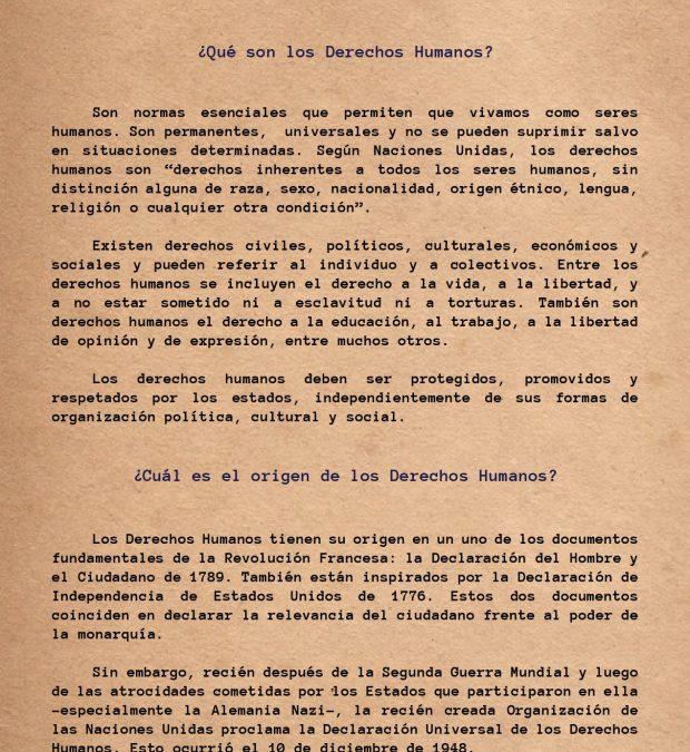 Cartilla N° 3 – Derechos Humanos ¡Exígelos, respétalos y ejercítalos!