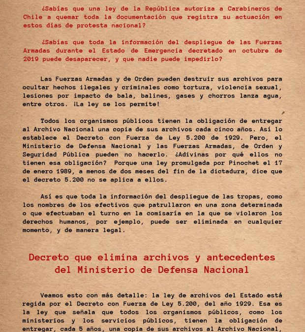 Nº4 – Archivos de Fuerzas Armadas y de Orden